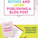what to do before publishing a blog post blog post checklist