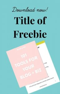 Image with text and an image of the freebie cover page and inner page. How to create images for your resource library.